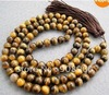 handmade 8 mm 108 Tiger Eye Beads Buddhist Prayer Mala Necklace fashion jewelry #3