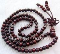 handmade 10 mm 108 rosewood Beads Buddhist Prayer Mala Necklace 2pc/lot fashion jewelry