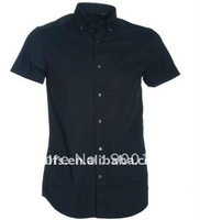 men's new style navy slim fit casual shirt