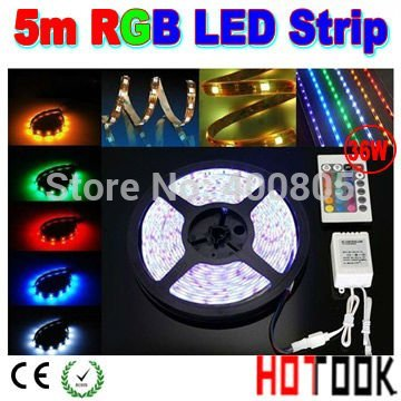 led light remote dimmable 5050 led strip 5m Licht 12V RGB 150 waterproof Tiras Led string Light warranty 2 year CE RoHS x 20sets(China (Mainland))