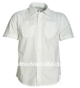 men's stylish slim fit two porket casual shirt