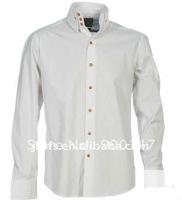 men's new style white dress shirt