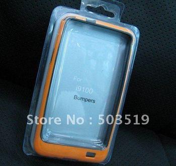 TPU plastic bumper frame case for Samung Galaxy S2 i9100 10pcs