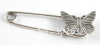 20PCS Tibetan silver butterfly Safety Pin Brooch A15548