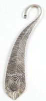 15PCS Tibetan silver peacock feather bookmark A15571