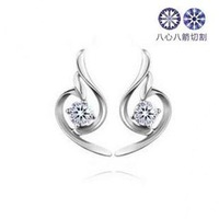 Free shipping!! SB0477, mixed order, Hot sale beautiful wing 925 silver CZ stud earring