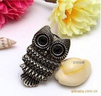 Lovely Ancient Owl Ring Jewelry ,Vintage Retro Alloy Carved Owl Ring 50pcs/lot