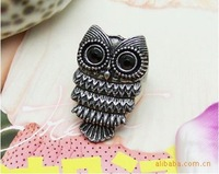 Lovely Ancient Owl Ring Jewelry ,Vintage Retro Alloy Carved Owl Ring 100pcs/lot