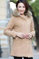 woolen women coat woolen coat lady's winter coat  women's long coat  fashion coat