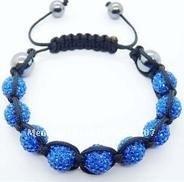 nice artifical european beads shamballa bracelet with 9 crystal ball free shipping/shambala bracelet