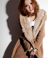 hot sale Free shipping-Women's slim wool blends winter noble long coat,ladies fashion coat