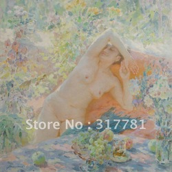 Gallery oil painting reproduction: A nude girl in armchair(China (Mainland))