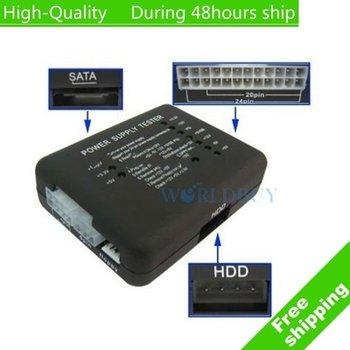 High Quality 20P/24P atx power supply mini tester Free Shipping UPS DHL EMS HKPAM CPAM