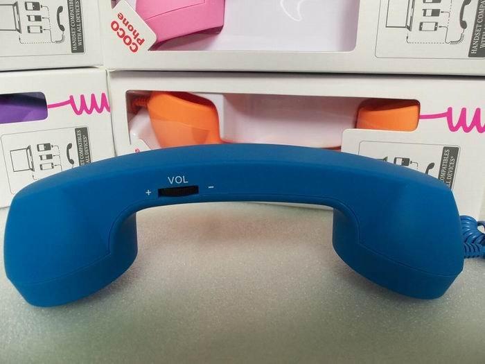 Wholesale - 100pcs/lot Portable Native Moshi POP Union Phone Handset for 3.5mm.phone the retrol handset.Via DHL(China (Mainland))