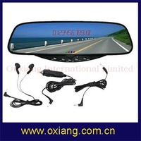 Bluetooth  Handsfree car  rearview Mirror with Built-in FM  transmitter +Voice dial +high quaility+free shipping cost