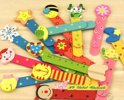Free shiping!New Cute Wood Ruler/Straight Ruler/Stationery Ruler/Cartoon Ruler/Kids Gift/Wholesale(China (Mainland))