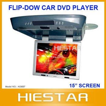 15inch Roof Mount Car DVD Player, Ceiling Mount Car DVD  IR+FM Transmitter+Anti-Shock+Speaker+TV/Game(Optional) (AC9007)