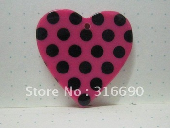 Free shipping flat cute resin fashionable pink heart for DIY decoration&mobile phone ornament