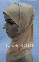 free shipping 2-pcs set hot drill muslim higabs,muslim hijab,islamic hijab,muslim scarf 081802