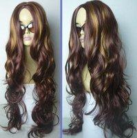 Beautiful New human made hair women's full wig/wigs  free shipping D33DD