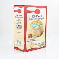 Brand New 100 pcs Cake Decorating Kit+ Free Plastic Storage Box Make Youself Cake