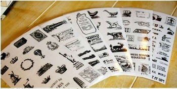 Free Shipping! 6sheets/set Vintage European Style Tower Diary Sticker/PVC Sticker/ Multifunction Decoration Sticker/Label 8629