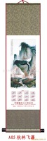 So Beautiful 2012 Calendar With Landscape Painting A05,105*30,Silk Scroll,Providing Design,Promotion for Xmas Gifts,Hot Sale