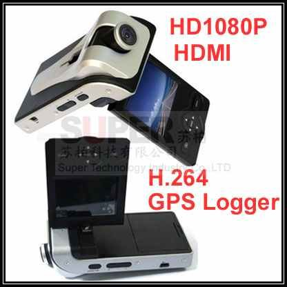 HD 1080P H.264 GPS data logger car black box vehicle camera DVR, car driving camera DVR,vehical DVR,car recording camera(China (Mainland))