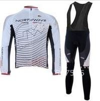 2011 Northwave High Quality  Best Selling Winter Fleece Long Sleeve Cycling Jerseys+ Bib Pant Set/Cycle Wear/Biking Jersey/Bike