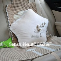 five-pointed star shaped comfortable throw pillow car using cushion