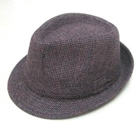Tweed  Purple Fedora Hats Winter Fedoras Hats Hat Classical Solid Warm Caps Black Grey Brown Mix Color Free Shipping