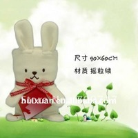 Cartoon Rabbit multi-purpose foldable air conditioner blanket fleece baby blanket