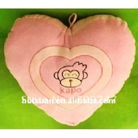 heart-shaped KAPO monkey-printed hand warm pillow cushion