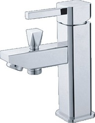 Bathroom Chromeplated Wash Basin Faucet dual handle mixer square elegant 100%Guarantee(China (Mainland))