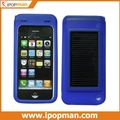 Silicone Case Mobile Solar charger with for iPhone 4G, iPhone 3G / 3Gs, built-in 1500Mah battery