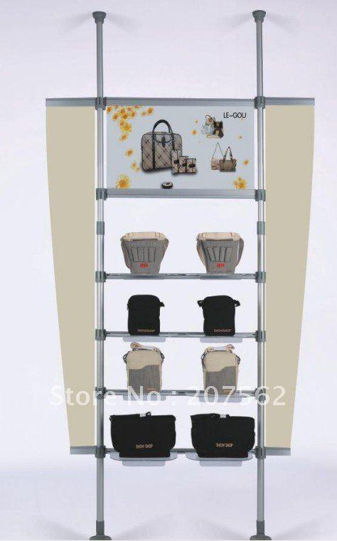 stand photo boni perche télescopique; stand de bannière; ceilling intérieur- produits de plancher s-tdg-9 présentoir(China (Mainland))
