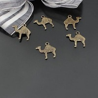 500pcs mini Camel Animal Dollhouse miniature toy/jewelry Charm Brass 15 x 16mm
