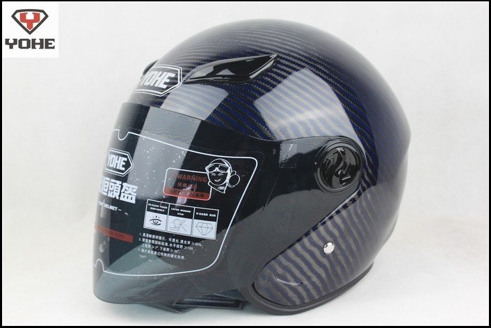 Yohe helmet motorcycle half face helmet top racing helmet carbon fiber helmet XS,S,M,L,XL,XXL blue(China (Mainland))