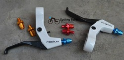 NEW RADIUS BIKE BICYCLE BRAKE CRANK ALUMINUM LEVERS White/Black Brake levers FOR MTB BIKE(China (Mainland))