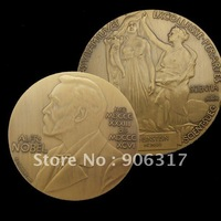 High Quality  Albert EINSTEIN ALFRED NOBEL SOUVENIR MEDAL BRONZE Plated 10pcs/lot