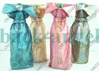 NEW 10 PCS CHINESE Handmade SILK WINE BOTTLE COVERS Gift