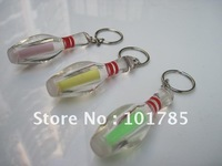 transparent bowling keychain gift+in stock for quick delivery +exquisite bowling pin light+free shipping