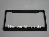 US Black Carbon Fiber License Plate Frames Style 2