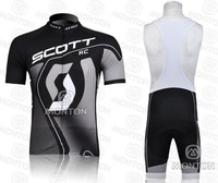 free shipping! new 2011 brand team black short sleeve cycling jersey and black bib shorts ,bike jersey,short cycling wear summer