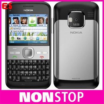 Unlocked Original NOKIA E5 Cell Phones 3G 5MP camera mobile phones bluetooth mp3 player