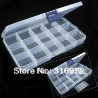 F1 Portable jewelry box of 15 clear cell, multi-functional travel storage box,storage box