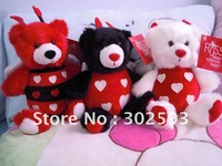 "Russ 8"" inch christmas bear,plush toys,Christmas gift,new year gift 12pcs/pack"