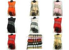 Free shipping! lots of 5pcs 100% Cashmere pane square scarves shawls(China (Mainland))