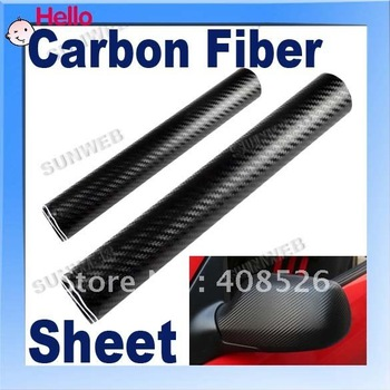 black Carbon fiber sheet 24*60 free shipping 2012 High quality 3D Carbon Fiber film Vinyl Car Sticker 3286