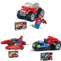 Free shipping S/3 super spiderman plastic building blocks bricks educational toys gift  kids toys wholesale retail